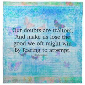シェークスピア著高揚のやる気を起こさせるな引用語句 ナプキンクロス