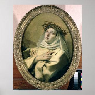シエナ、c.1746のSt.キャサリン ポスター