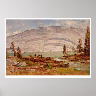 シエラネバダ山脈の景色(0709A) ポスター