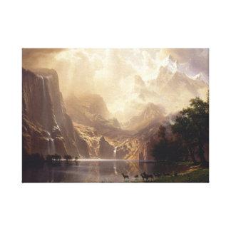 シエラネバダ山脈山の中 キャンバスプリント