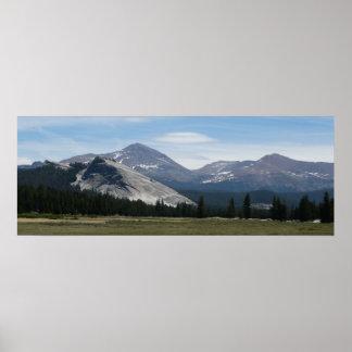 シエラネバダ山脈山IIIヨセミテ国立公園 ポスター