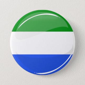 シエラレオネの光沢のある円形の旗 7.6CM 丸型バッジ