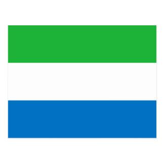シエラレオネの国民の世界の旗 ポストカード