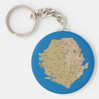 シエラレオネの地図Keychain キーホルダー