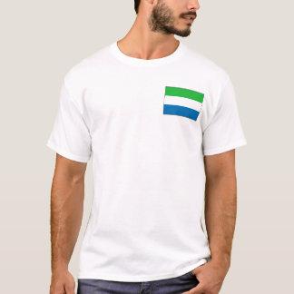 シエラレオネの旗および地図のTシャツ Tシャツ