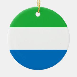 シエラレオネの旗のオーナメント セラミックオーナメント