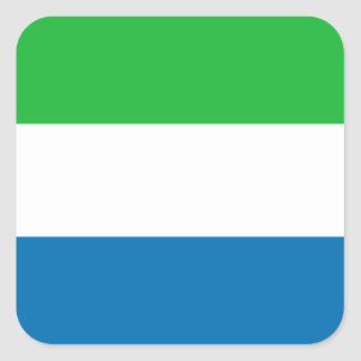 シエラレオネの旗のステッカー スクエアシール