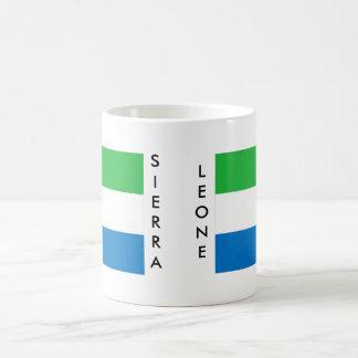 シエラレオネの旗のマグ コーヒーマグカップ