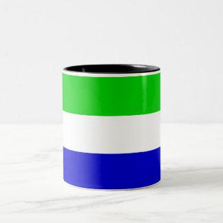 シエラレオネの旗のマグ ツートーンマグカップ