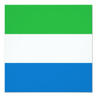 シエラレオネの旗の招待状 13.3 スクエアインビテーションカード