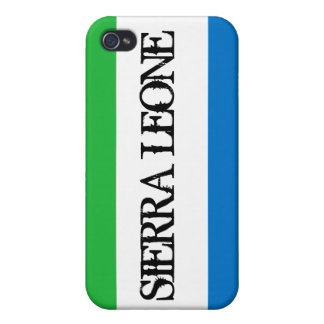 シエラレオネの旗のiphone 4ケース iPhone 4/4S カバー