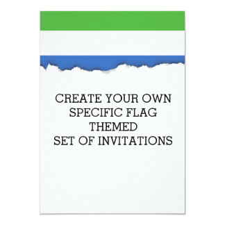 シエラレオネの旗 カード