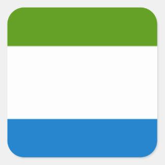 シエラレオネの旗 スクエアシール