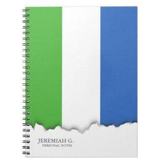 シエラレオネの旗 ノートブック