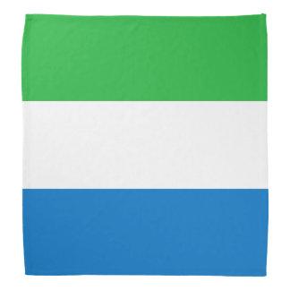 シエラレオネの旗 バンダナ