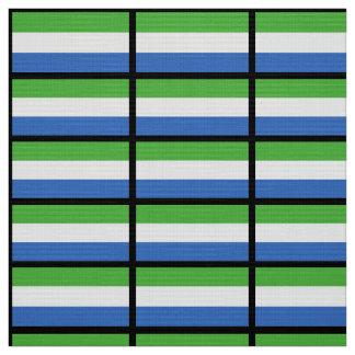 シエラレオネの旗 ファブリック