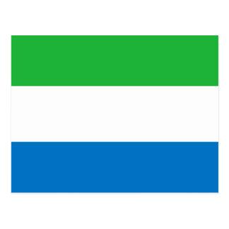 シエラレオネの旗 ポストカード