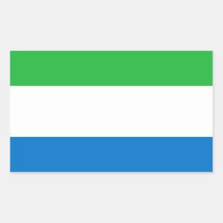 シエラレオネの旗 長方形シール