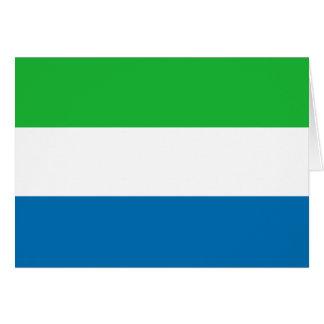 シエラレオネの旗Notecard カード