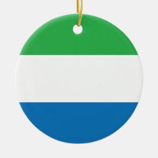シエラレオネの明白な旗 セラミックオーナメント