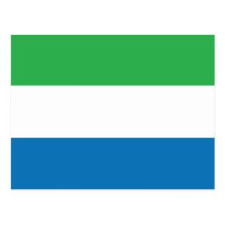 シエラレオネの明白な旗 ポストカード