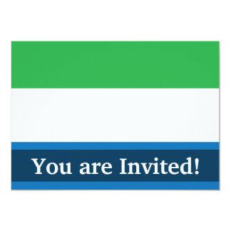 シエラレオネの明白な旗 12.7 X 17.8 インビテーションカード