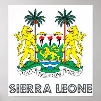 シエラレオネの紋章付き外衣 ポスター