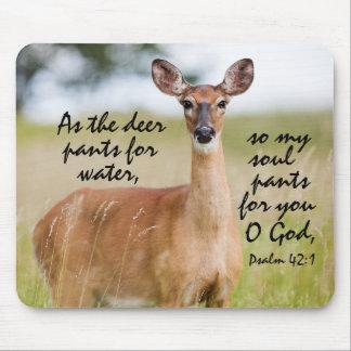 シカが水聖書の詩の賛美歌42 1のために喘ぐように マウスパッド