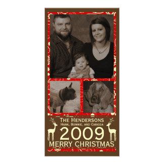シカそれはCristmasです! 休日のフォトカード カード