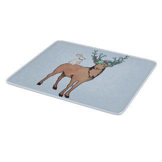 シカのウサギのまな板 カッティングボード