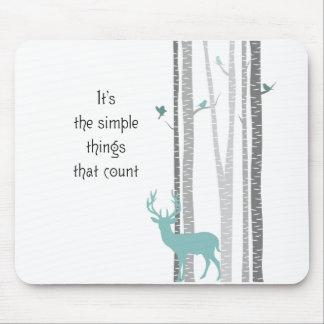 シカのシンプルな事の計算の樺の木 マウスパッド