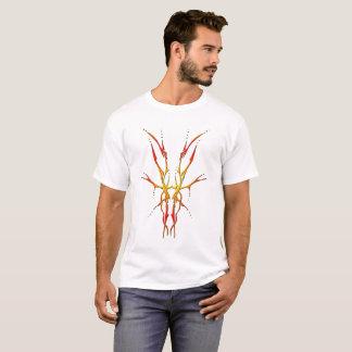 シカのスカルの種族の入れ墨 Tシャツ