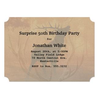 シカのハンターの(雄ジカの)枝角の人の誕生日 カード