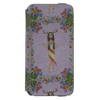 シカの女性(おとぎ話のファッションシリーズ#5) INCIPIO WATSON™ iPhone 6 ウォレットケース
