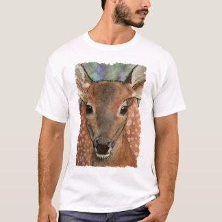 シカの子鹿の野性生物の芸術はEdunのTシャツをからかいます Tシャツ