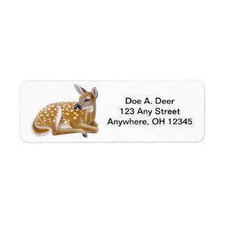 シカの子鹿のAveryのラベル ラベル