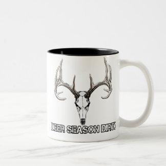 シカの季節の汚れたコーヒー・マグ ツートーンマグカップ