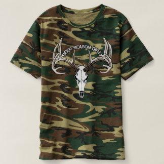 シカの季節の汚れた迷彩柄のワイシャツ Tシャツ