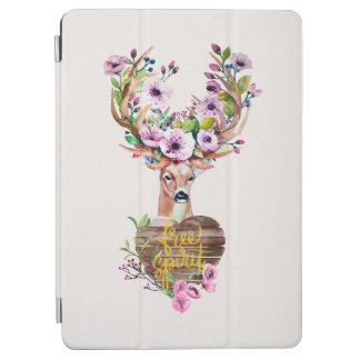 シカの自由な精神の水彩画のデザインのIpadairカバー iPad Air カバー