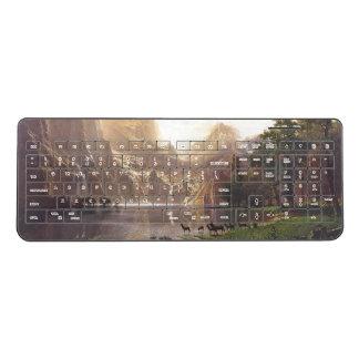 シカのBierstadtの山脈light湖の無線電信のキーボード ワイヤレスキーボード
