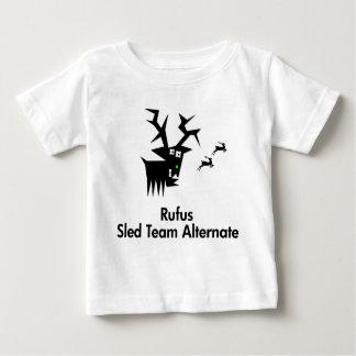 シカのRufusのそりのチーム代理 ベビーTシャツ