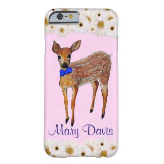 シカはデイジーの名前入りな電話箱とじゃれつきます BARELY THERE iPhone 6 ケース