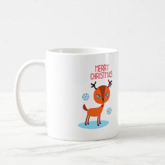 シカはメリークリスマスを言います! コーヒーマグカップ