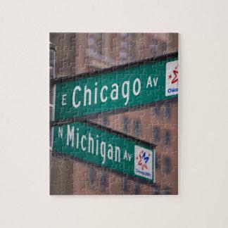 シカゴおよびミシガン州の道の道標、シカゴ、 ジグソーパズル