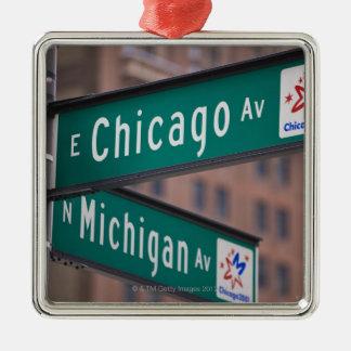 シカゴおよびミシガン州の道の道標、シカゴ、 メタルオーナメント
