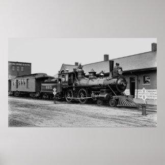シカゴおよび北西鉄道蒸気機関車 ポスター