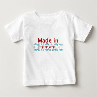 シカゴで作られる、シカゴの旗のデザイン ベビーTシャツ