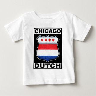 シカゴのオランダのアメリカの盾 ベビーTシャツ