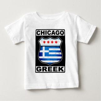 シカゴのギリシャのアメリカの盾 ベビーTシャツ