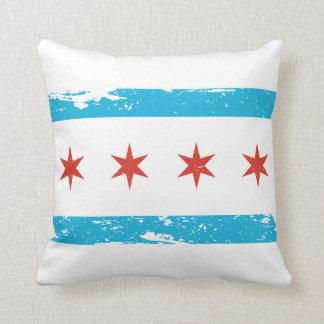 シカゴのグランジな旗 クッション
